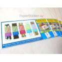 Standard Gloss Paper Sticker 12 sheets